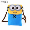 Women Small Minions Shoulder Bag For Phone/Money/Documents