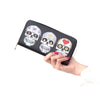 Floral Skull Synthetic PU Leather Zip Around Clutch Wallet - My Gift Of Today