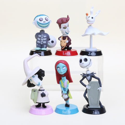 6pcs/set The Nightmare Before Christmas PVC Collectible Toys