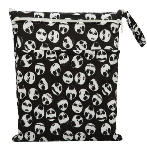 Nightmare Before Christmas Jack Skellington Pattern Zippered Nappy Bag