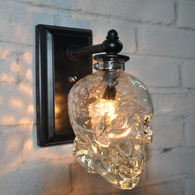 Glass Skull Modern Wall Lamp