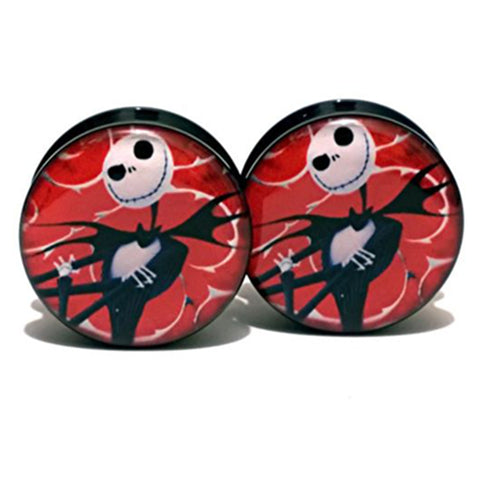 1 pair  Jack Skellington Ear Plug / Gauges