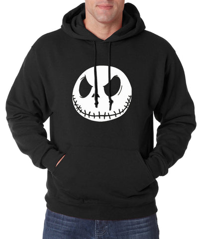 Jack Skellington Casual Graphic Unisex Pullover Hoodie in Black