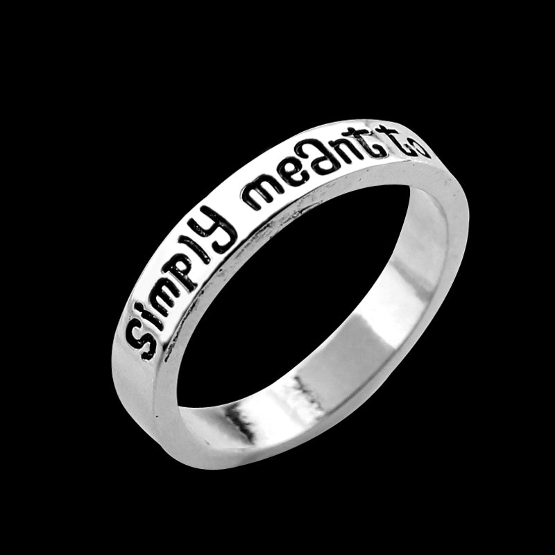 Nightmare Before Christmas Stainless Steel Engraved Ring with Black Stone Insert