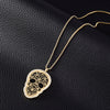 Hollow Skull Pendant with Long Necklace