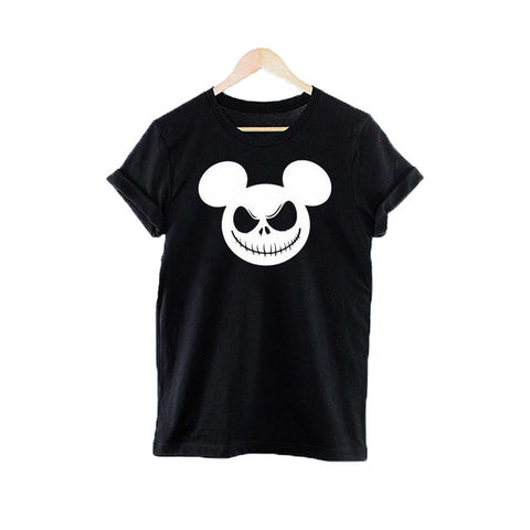 Jack Skellington with Mickey Ears Printed Tshirts