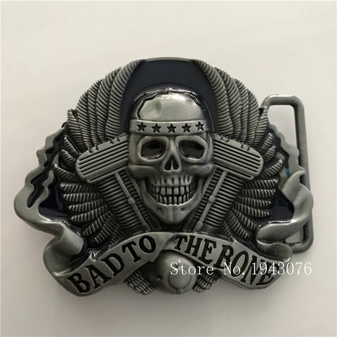 Bad to the Bones Skull Zinc Alloy Ring Type Belt Buckle - My Gift Of Today