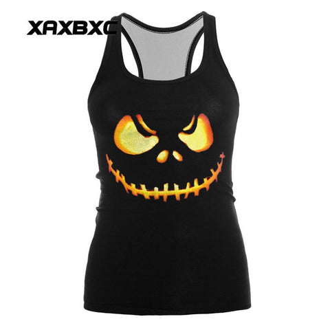 Jack Skellington Evil Smile Nightmare Before Christmas Sleeveless Activewear Sports Fitness