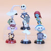 Nightmare Before Christmas 25th Anniversary Miniature Action Figure Collectible Toys 6-Piece Set