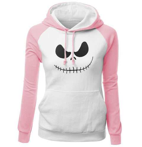 Jack Skellington Evil Smile Women's Hoodies