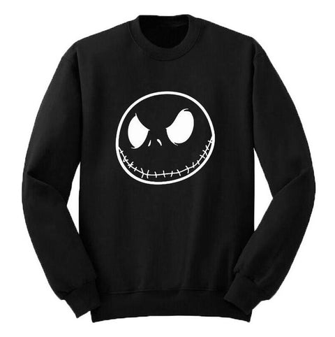 Nightmare Before Christmas Jack Skellington Evil Smile Men's Crew Neck Pullover Sweater