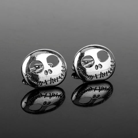 Jack Skellington Zinc Alloy Men's Metal Tie Clips and Cufflinks