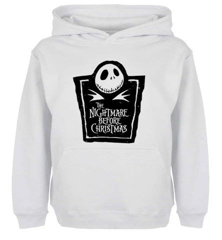Jack Skellington Evil Face Nightmare Before Christmas Unisex Graphic Printed Pullover Hoodie