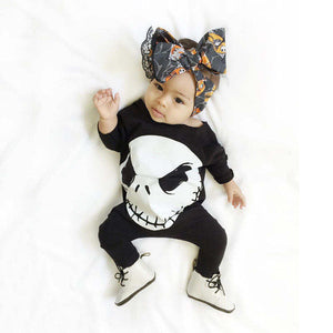 Nightmare Before Christmas Jack Skellington Long Sleeve Baby Romper in Black