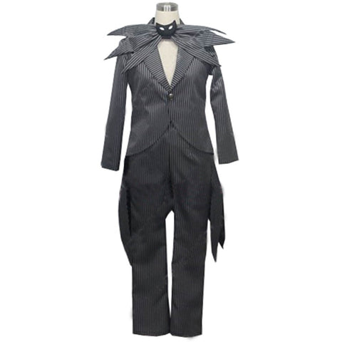 Jack Skellington Unisex 2-Piece Tuxedo Cosplay Costume for Halloween & Theme Parties