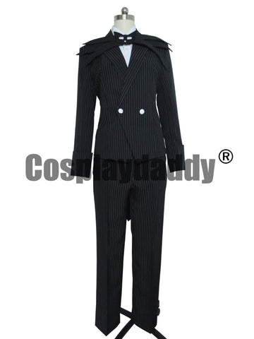 Jack Skellington Nightmare Before Christmas Cosplay Tuxedo Suit Halloween Costume