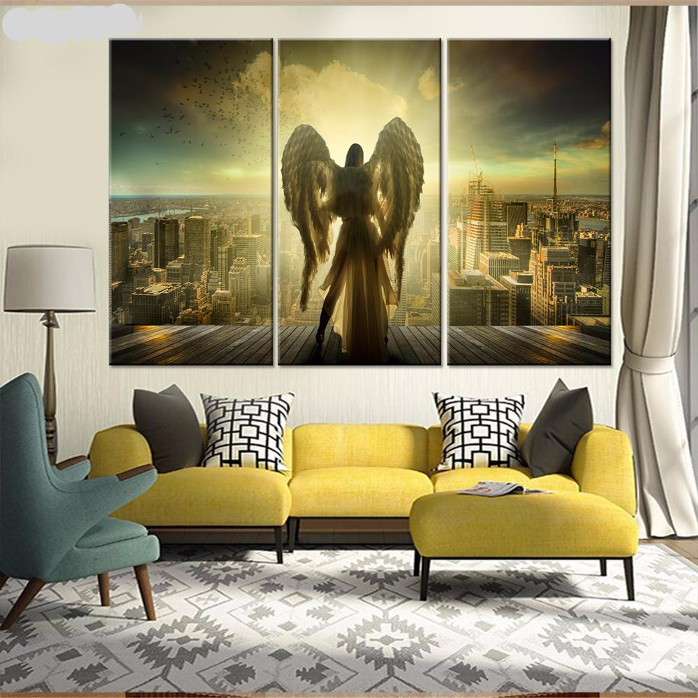 Salvation Angel Wall Art Canvas Painting Pictures – Giftoftoday