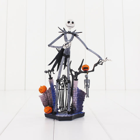 Jack Skellington With Pumpkin  Model Doll 18cm
