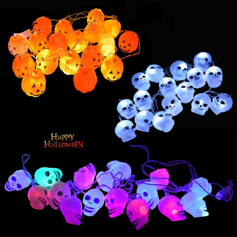 Halloween String Lights Decoration Skull Head LED Lights Home & Party Decor