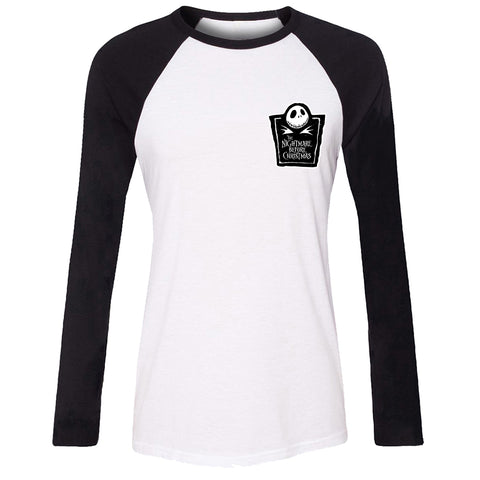 Jack Skellington Women Long Sleeve Tees