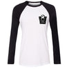 Jack Skellington Women Raglan Long Sleeve Baseball T-shirt