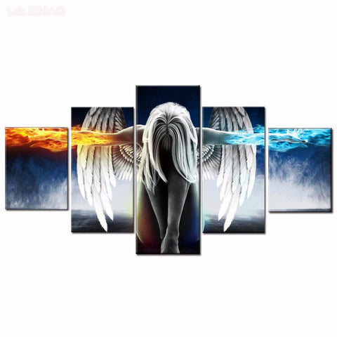 Fire and Ice Angel Wall Art Canvas Picture