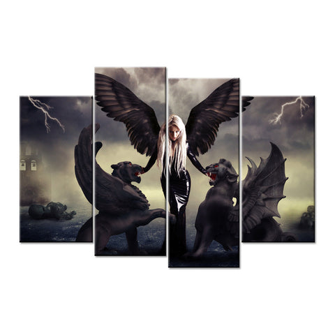 Angel and Demons Canvas Wall Pictures