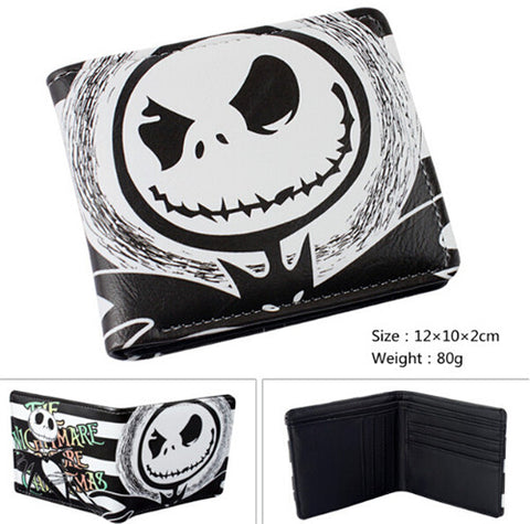 Angry Jack Skellington Nightmare Before Christmas Bi-fold Leather Wallet - My Gift Of Today