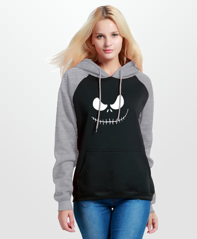 Jack Skellington Nightmare Before Christmas Casual Women's Hooded Sweatshirt