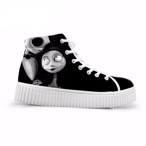 Jack and Sally High Top Platform Women Shoes