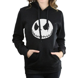 Jack Skellington Fleece Unisex Long Sleeve Pullover Hoodie