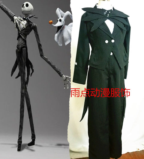 Jack Skellington Nightmare Before Christmas Tuxedo Suit Halloween Costume & Cosplay