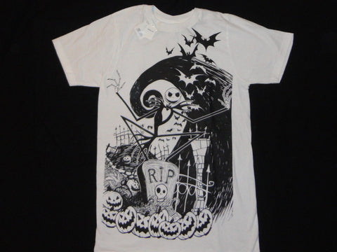 Nightmare Before Christmas Pumpkin King Cotton T-Shirt in White