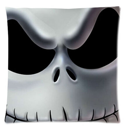 Nightmare Before Christmas Evil Jack Skellington Zippered Decorative Throw Pillow Case