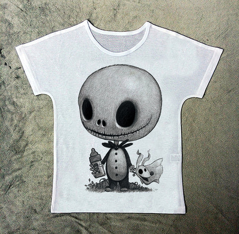 nightmare before christmas vintage style childrens crew neck t shirt