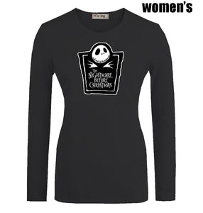 Nightmare Before Christmas Women's Printed Long Sleeves Pullover