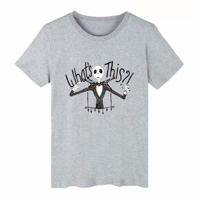 Nightmare Before Christmas What's This Plain Crew Neck Short Sleeve Men's T-Shirt