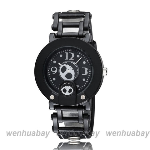 Nightmare Before Christmas Black Buckle Type Quartz Wristwatch