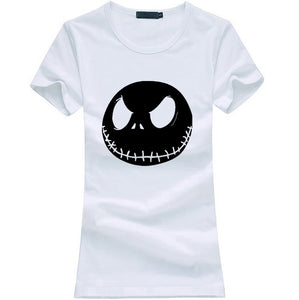 Jack Skellington Evil Face Women's T-shirt in Assorted Colors