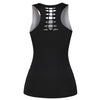 Skull & Roses Pattern Sleeveless Casual Women's Tank Top Vest for Fitness, Activewear and Sports