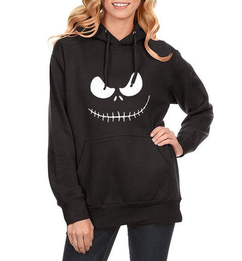 Jack Skellington Plain Evil Smile Long Sleeve Pullover Sweatshirt