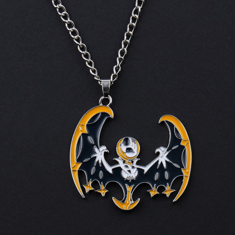 Jack Skellington is a Bat Nightmare Before Christmas Chain Link Pendant Necklace