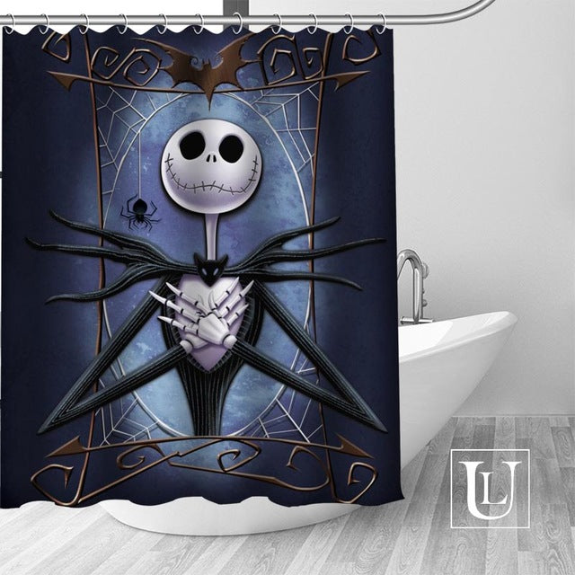 Nightmare Before Christmas Waterproof Polyester Bathroom Shower Curtain Assorted Designs