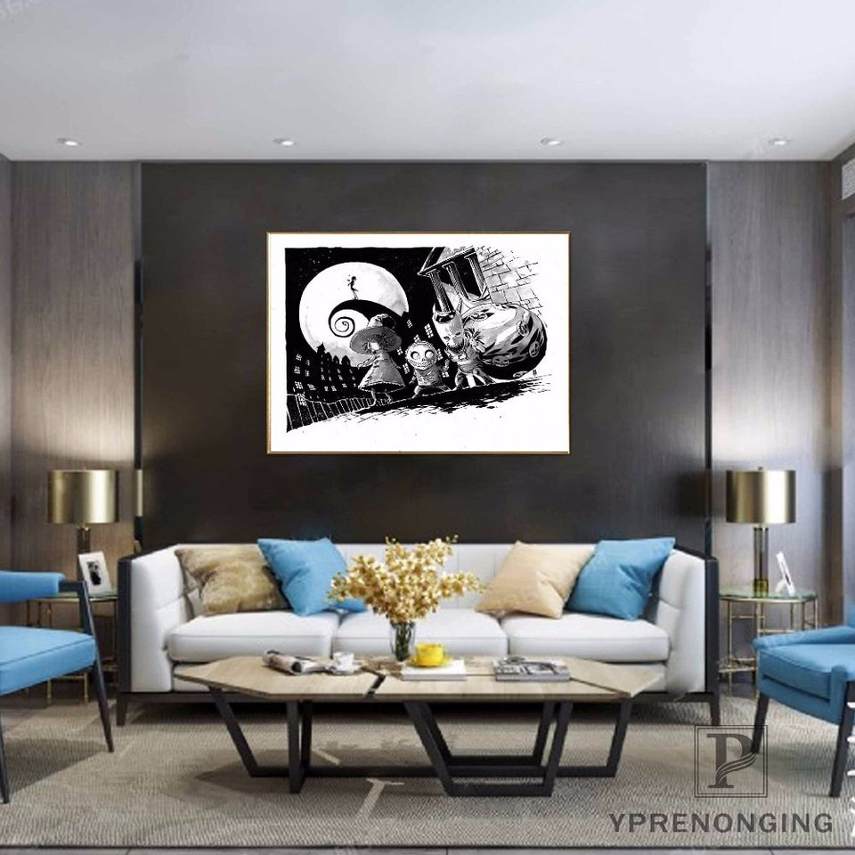 Nightmare Before Christmas Custom Canvas Wall Art Home Fabric Print Poster - No Frame 27 x 40cm