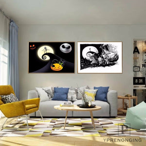 Nightmare Before Christmas Custom Canvas Wall Art Home Fabric Print Poster - No Frame - 20 x 30cm
