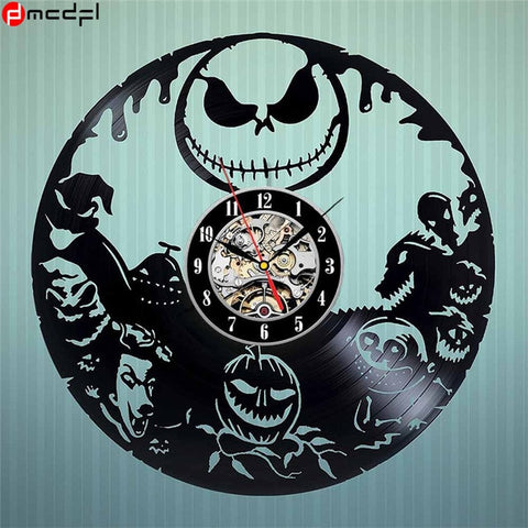 Nightmare Before Christmas Vintage Vinyl Halloween Home Decoration Wall Clock