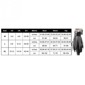 Halloween Cosplay Costumes Women's Ghost Bride Carnival Masquerade Dress