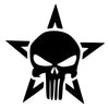 Skull Motorcycle Car Window Bumper Sticker 12*12CM