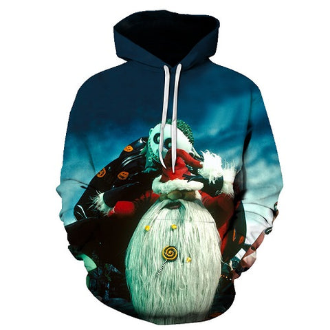 Jack Skellington Takes Over Christmas Unisex Graphic Pullover Hoodie