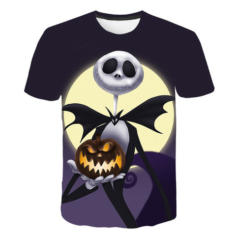 Nightmare Before Christmas Jack O' Lantern Graphic Print Crew Neck T-Shirt